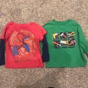 Bundle boys 3T long sleeve shirt Marvel Spider-Man